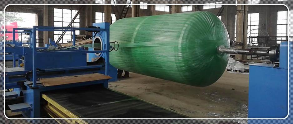Semi-girder filament winding machine